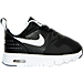 Right view of Boys' Toddler Nike Air Max Tavas Running Shoes in Black/White