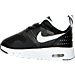 Left view of Boys' Toddler Nike Air Max Tavas Running Shoes in Black/White