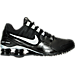 Right view of Women's Nike Shox Avenue Running Shoes in Black/White/Metallic Silver