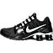 Left view of Women's Nike Shox Avenue Running Shoes in Black/White/Metallic Silver