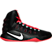 Right view of Men's Nike Hyperdunk 2016 BLK Basketball Shoes in 016