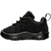 Left view of Girls' Toddler Jordan Deca Fly Basketball Shoes in Black/Black