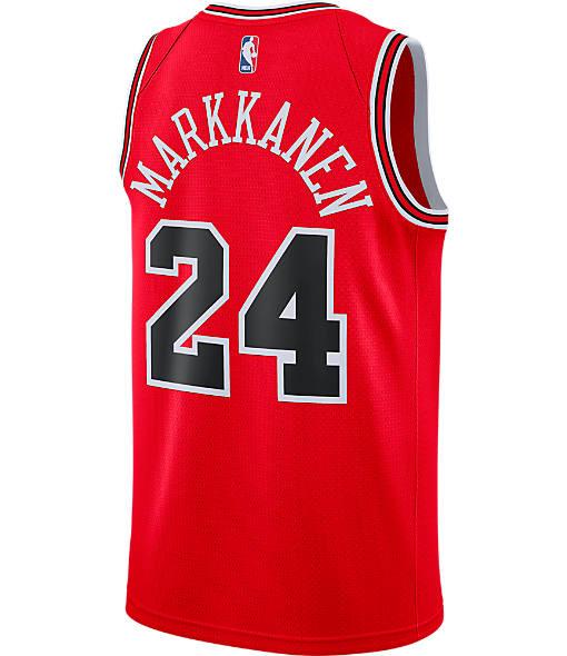 Men's Nike Chicago Bulls NBA Lauri Markkanen Icon Edition Connected Jersey