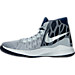 Left view of Men's Nike Zoom Devosion Basketball Shoes in Wolf Grey/Loyal Blue/Game Royal