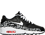 Girls' Grade School Nike Air Max 90 Leather Running Shoes