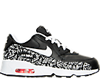 Girls' Preschool Nike Air Max 90 Print Leather Running Shoes