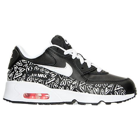 Girls' Preschool Nike Air Max 90 Print Leather Running Shoes