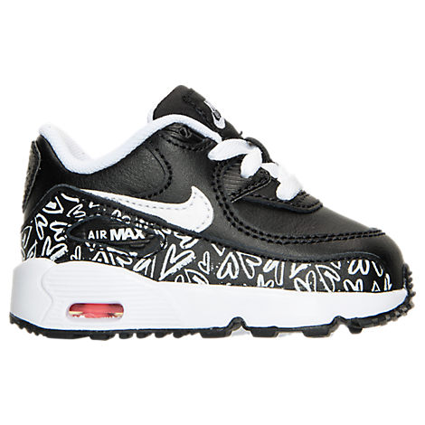 Girls' Toddler Nike Air Max 90 Print Leather Running Shoes