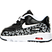 Left view of Girls' Toddler Nike Air Max 90 Print Leather Running Shoes in Black/White/Lava Glow