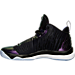 Left view of Men's Air Jordan Super.Fly 5 Basketball Shoes in Black/Concord/White