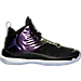 Right view of Boys' Grade School Jordan Super.Fly 5 Basketball Shoes in Black/Concord/White