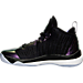 Left view of Boys' Grade School Jordan Super.Fly 5 Basketball Shoes in Black/Concord/White