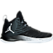 Right view of Men's Jordan Super.Fly 5 Basketball Shoes in Black/White