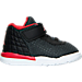 Right view of Boys' Toddler Jordan Academy Basketball Shoes in Black/Gym Red/White