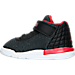 Left view of Boys' Toddler Jordan Academy Basketball Shoes in Black/Gym Red/White