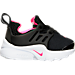 Right view of Girls' Toddler Nike Little Presto Running Shoes in Black/Hyper Pink/White