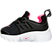 Left view of Girls' Toddler Nike Little Presto Running Shoes in Black/Hyper Pink/White
