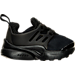 Right view of Boys' Toddler Nike Little Presto Running Shoes in Black/Black/Black