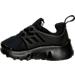 Left view of Boys' Toddler Nike Little Presto Running Shoes in Black/Black/Black