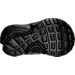 Bottom view of Boys' Toddler Nike Little Presto Running Shoes in Black/Black/Black