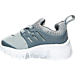 Left view of Boys' Toddler Nike Little Presto Running Shoes in Cool Grey/White/Wolf Grey