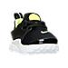 Three Quarter view of Boys' Toddler Nike Little Presto Running Shoes in Black/Volt/White