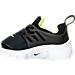 Left view of Boys' Toddler Nike Little Presto Running Shoes in Black/Volt/White