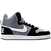 Right view of Men's Nike Court Borough Mid Premium Casual Shoes in Grey/Black/White