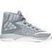 Right view of Boys' Preschool Nike Air Devosion Basketball Shoes in Wolf Grey/White/Cool Grey