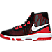 Left view of Boys' Preschool Nike Air Devosion Basketball Shoes in