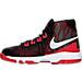 Left view of Boys' Preschool Nike Air Devosion Basketball Shoes in