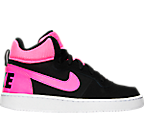 Girls' Grade School Nike Court Borough Mid Casual Shoes