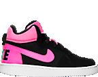 Girls' Grade School Nike Court Borough Mid Casual Shoes