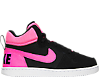 Girls' Preschool Nike Court Borough Mid Casual Shoes