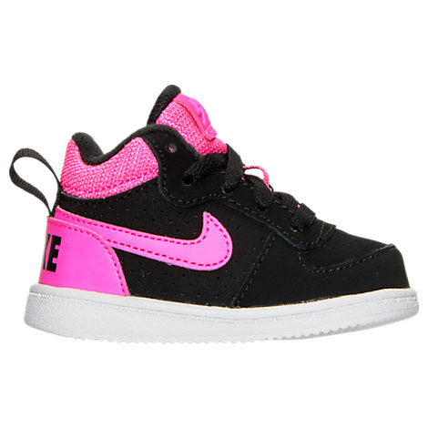 Girls' Toddler Nike Court Borough Mid Casual Shoes