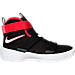 Right view of Boys' Preschool Nike LeBron Soldier 10 Basketball Shoes in Black/White/University Red