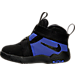 Left view of Boys' Toddler Nike LeBron Zoom Soldier 10 Basketball Shoes in Black/White/Game Royal