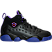 Right view of Girls' Preschool Jordan Jumpman Team II Basketball Shoes in 017