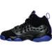 Left view of Girls' Preschool Jordan Jumpman Team II Basketball Shoes in 017