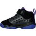 Left view of Girls' Toddler Jordan Jumpman Team II Basketball Shoes in 017