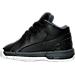 Left view of Boys' Toddler Jordan Ol' School Low Basketball Shoes in Black/Metallic Silver/Dark Grey