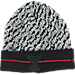 Front view of New Era Chicago Bulls NBA Boost Hook Knit Hat in Grey