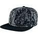 Front view of Nike S+ BBall Summer Wash Pro Strapback Hat in Black/Wolf Grey
