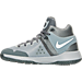 Left view of Boys' Preschool Nike KD Trey 5 IV Basketball Shoes in Wolf Grey/White/Cool Grey