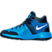 Left view of Boys' Preschool Nike KD Trey 5 IV Basketball Shoes in Photo Blue/White/Midnight Navy