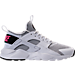 Right view of Girls' Grade School Nike Air Huarache Run Ultra Casual Shoes in White/Black/Pink Blast