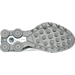 Bottom view of Boys' Grade School Nike Shox Avenue Running Shoes in White/Metallic Silver