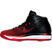 Left view of Boys' Grade School Air Jordan XXXI Basketball Shoes in Black/University Red/White