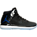 Right view of Boys' Grade School Air Jordan XXXI Basketball Shoes in Black/Concord/Anthracite/White
