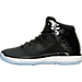Left view of Boys' Grade School Air Jordan XXXI Basketball Shoes in Black/Concord/Anthracite/White